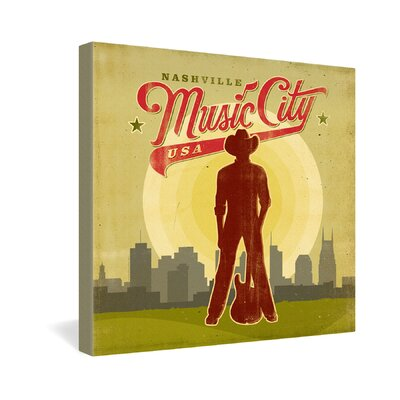 Music City by Anderson Design Group Vintage Advertisement on Canvas