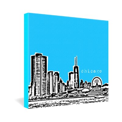 DENY Designs Chicago by Bird Ave Graphic Art on Canvas