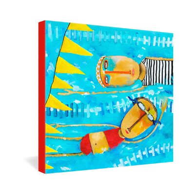 DENY Designs Robin Faye Gates Swimming Is Hard Gallery Wrapped Canvas