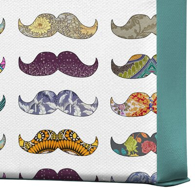 DENY Designs Bianca Green Mustache Mania Gallery Wrapped Canvas