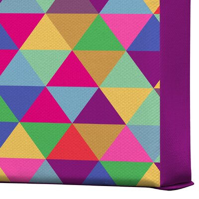 DENY Designs In Love with Triangles by Bianca Green Graphic Art on Canvas