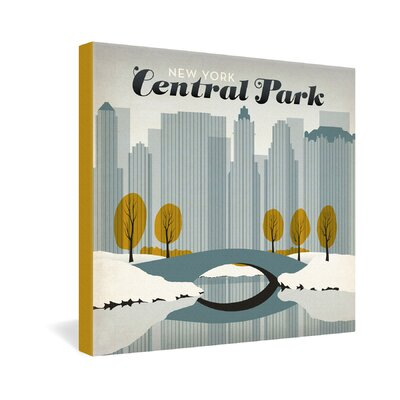 DENY Designs Central Park Snow by Anderson Design Group Vintage Advertisement on Canvas