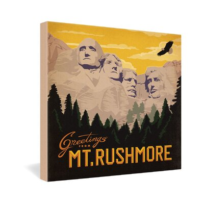 DENY Designs Mt Rushmore by Anderson Design Group Vintage Advertisement on Canvas