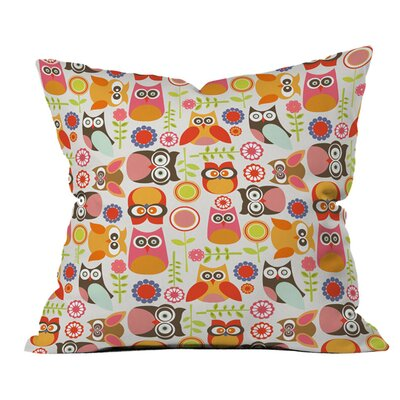 DENY Designs Valentina Ramos Cute Little Owls Polyester Throw Pillow