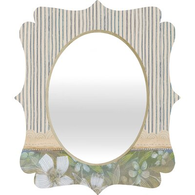 DENY Designs Cori Dantini Blue and White Stripes Quatrefoil Mirror