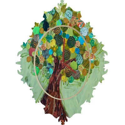 DENY Designs Elizabeth St Hilaire Nelson Spring Tree Wall Clock
