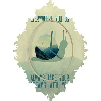 DENY Designs Belle 13 Always Take Your Dreams With You Wall Clock