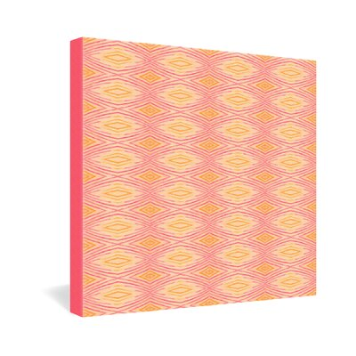 DENY Designs Cori Dantini Orange Ikat 4 Gallery Wrapped Canvas