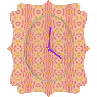 DENY Designs Cori Dantini Orange Ikat 4 Clock