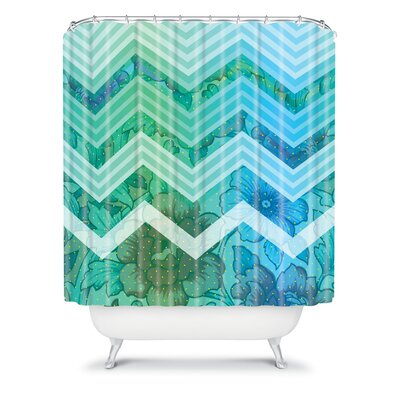 DENY Designs Gabi Azul Polyester Shower Curtain