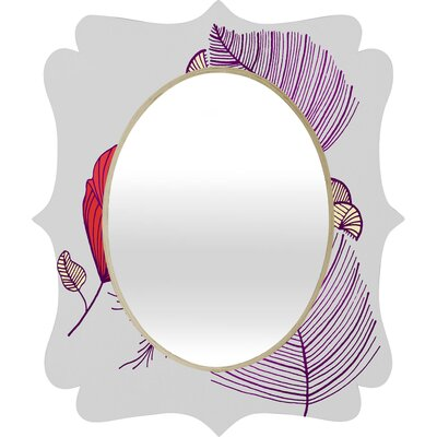 DENY Designs Gabi Sea Leaves Quatrefoil Mirror