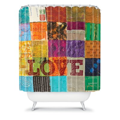 DENY Designs Elizabeth St Hilaire Nelson Love Polyester Shower Curtain