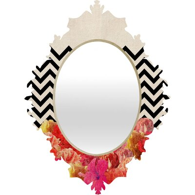 DENY Designs Bianca Green Chevron Flora 2 Baroque Mirror