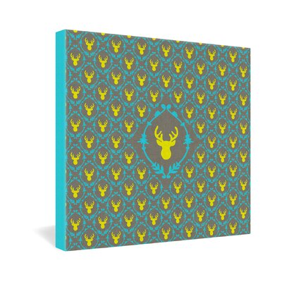 Bianca Green Oh Deer 3 Gallery Wrapped Canvas