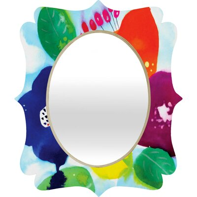 DENY Designs CayenaBlanca Big Flowers Quatrefoil Mirror