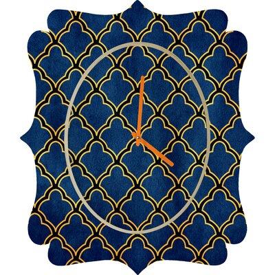 DENY Designs Arcturus Quatrefoil Wall Clock