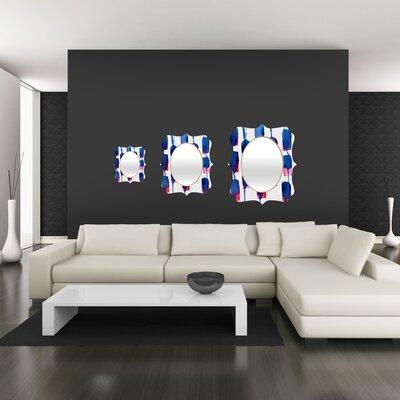 DENY Designs CMYKaren Color Run Quatrefoil Mirror