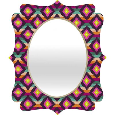 DENY Designs Bianca Green Aztec Diamonds Hammock Quatrefoil Mirror