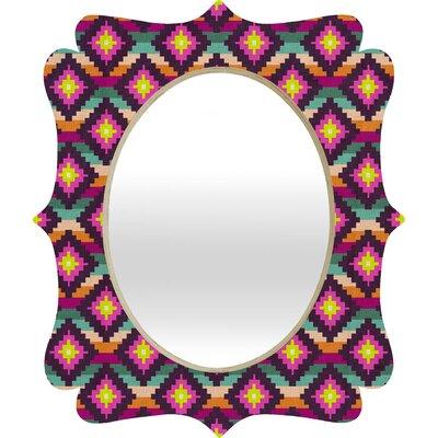 DENY Designs Bianca Green Aztec Diamonds Hammock Quatrefoil Mirror
