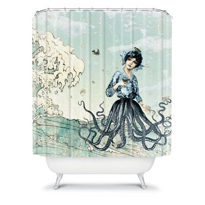 Deny Designs Belle13 Sea Fairy Polyester Shower Curtain Reviews Wayfair