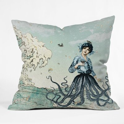 Belle13 Sea Fairy Polyester Throw Pillow