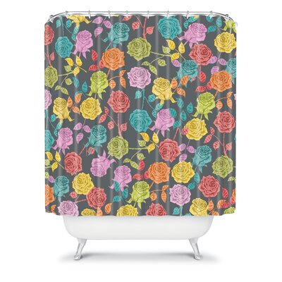 DENY Designs Bianca Woven Polyester Roses Shower Curtain