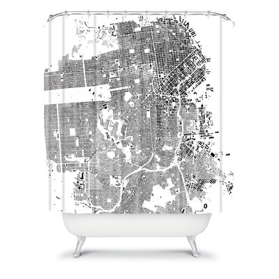 DENY Designs CityFabric Inc Woven Polyester San Francisco Shower Curtain