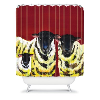 DENY Designs Clara Nilles Woven Polyester Lemon Spongecake Sheep Shower Curtain