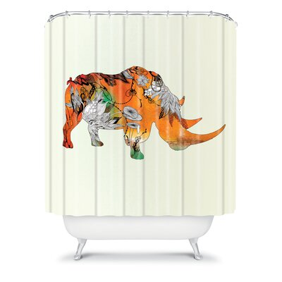 DENY Designs Iveta Abolina Polyester Rhino Shower Curtain