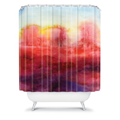 DENY Designs Jacqueline Maldonado Woven Polyester Where I End Shower Curtain