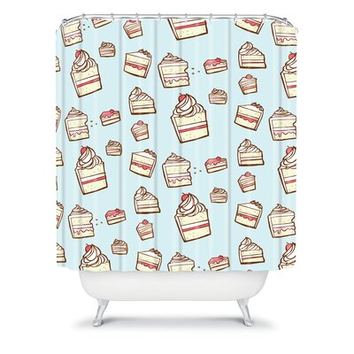DENY Designs Jennifer Denty Woven Polyester Cake Slices Shower Curtain