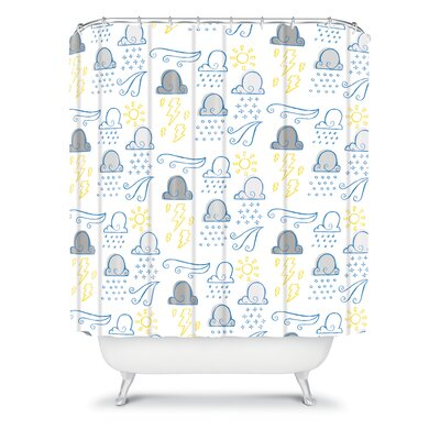 DENY Designs Jennifer Denty Woven Polyester Clouds Shower Curtain