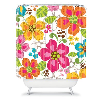 DENY Designs Khristian A Howell Woven Polyester Kaui Blooms Shower Curtain