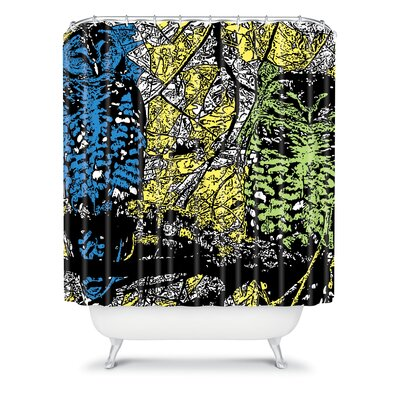 DENY Designs Romi Vega Polyester Bright Owl Shower Curtain