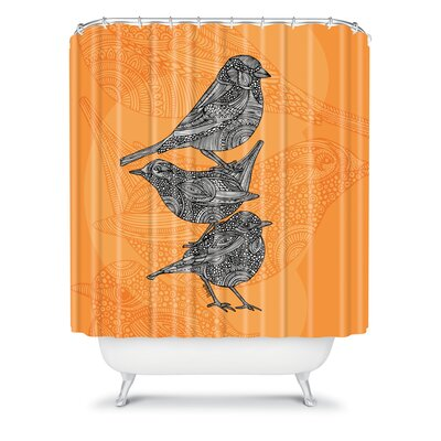DENY Designs Valentina Ramos Polyester 3 Little Birds Shower Curtain