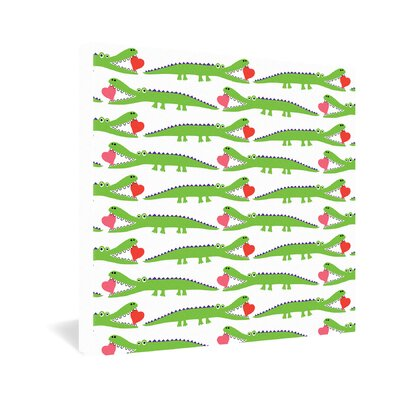 DENY Designs Andi Bird Alligator Love Gallery Wrapped Canvas