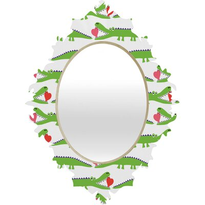 DENY Designs Andi Bird Alligator Love Baroque Mirror
