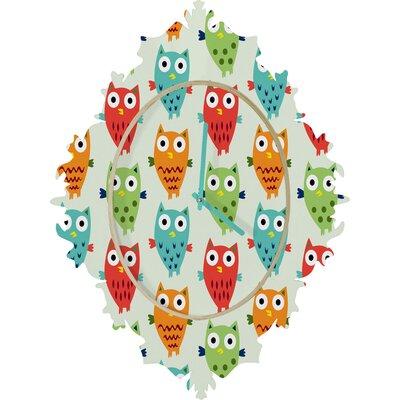 DENY Designs Andi Bird Owl Wall Clock