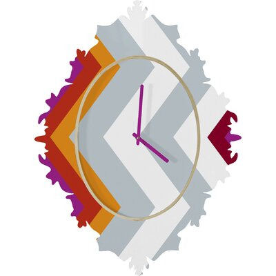 DENY Designs Karen Harris Warm Chevron Wall Clock