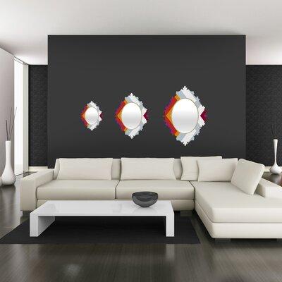 DENY Designs Karen Harris Modernity Solstice Warm Chevron Baroque Mirror