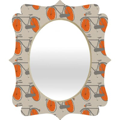 DENY Designs Mummysam Bicycles Quatrefoil Mirror