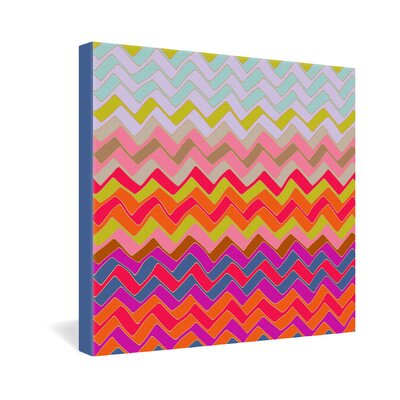 DENY Designs Sharon Turner Geo Chevron Gallery Wrapped Canvas