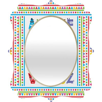 DENY Designs Andi Bird Alphabet Monsters Quatrefoil Mirror