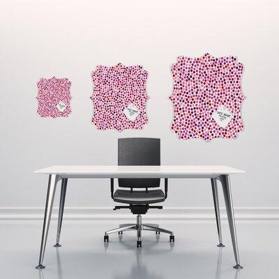DENY Designs Garima Dhawan Dots Watercolor Dots Berry Quatrefoil Memo Board
