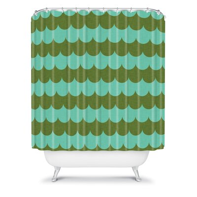 DENY Designs Holli Zollinger Woven Polyester Waves of Color Shower Curtain