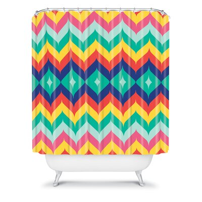 DENY Designs Juliana Curi Woven Polyester Chevron 5 Shower Curtain