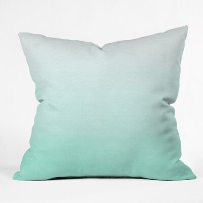 DENY Designs Social Proper Mint Ombre Polyester Throw Pillow