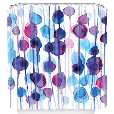 DENY Designs CMYKaren Polyester Abstract Watercolor Shower Curtain