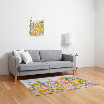 DENY Designs Amy Sia Flower Fields Sunshine Rug