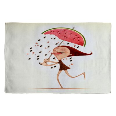 DENY Designs Jose Luis Guerrero Watermelon Novelty Rug